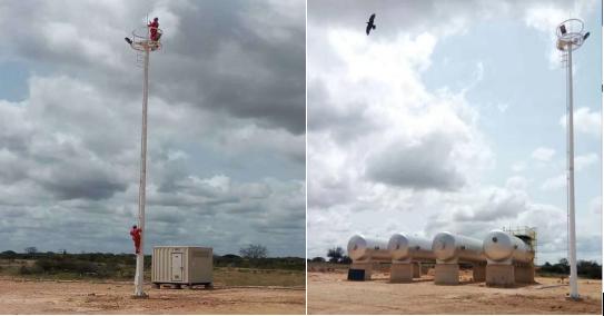 ATEX认证高杆灯——华荣智造  翱翔在索马里